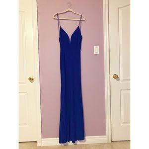 EUC Mermaid Style Royal Blue Dress Size Small